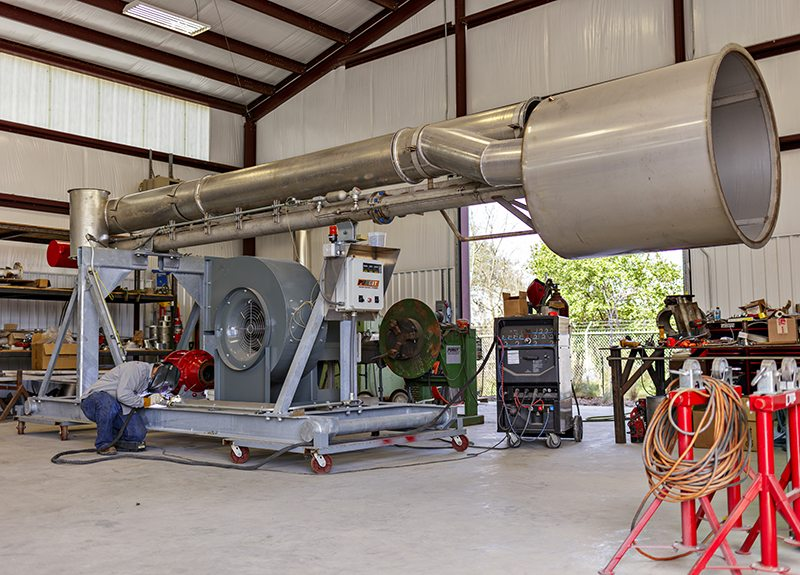 Shop fabrication of the PURGIT Gas Combustor
